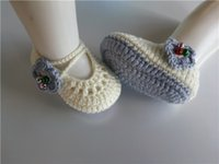 bell fashion shoes - 2016 Fashion Baby crochet shoes baby girls booties infant bell handmade baby booties M customize