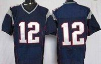 Cheap #12 #87 Elite American Football Jerseys Blue Football Jerseys Shirts Brand Mix Order All Teams Players Uniforms High Quality Football Kits