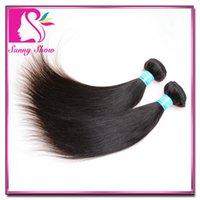 brazilian hair bundle jet black - 6A quot quot Unprocessed Brazilian Virgin Hair Extensions Human Hair Weave Natural Color and jet black color Straight bundles