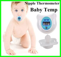 baby pacifier thermometer - Digital Soft Infant Temp Baby Soother Child Nipple Temperature Safe Trottie Children Pacifier Thermometer LCD Display