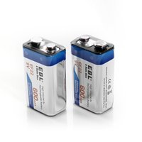 9 volt batteries - EBL mAh Volt Li ion Rechargeable V Batteries Lithium ion Pack