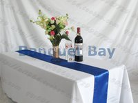Wholesale Table Runner Satin Table Runner In Royal Blue Color