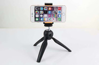 Wholesale 360 degree rotate mini tripod carmera tripods monopods hard Plastic lightweight mini stand for mobile phone iphone Samsung HTC blackberry