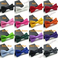 Wholesale New arrival Men s Fashion Tuxedo Classic Solid Color Butterfly Wedding Party Bow tie Red Black White Green Bow Tie