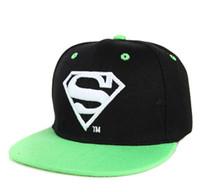 Cheap Cool!New Unisex Boys Cap For Children Hat Baby Snapback Hat Kid Hat Snapback Cap Kid Super Man Hip Hop Cap free shipping TY1248