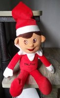 Wholesale Free Ship Hotsell Christmas Red Fairy Elf Action Figure toy High Quality Christmas decorations for tree doll Elf on the shelf Plush Elf