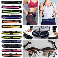 Wholesale HOT Men Women Running Bum Bag Travel Handy Sport Fanny Pack Waist Belt Fitness Jogging Hiking Running Cycling Zipper Belt Pouch Sport Belt