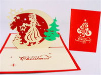 Wholesale Christmas greeting cards handmade paper sculptures D stereo cards