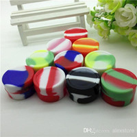 food storage tins - Nonstick food grade silicone jars dab wax vaporizer oil container silicon wax ball holder reusable silicone tin for storage weed jar DHL