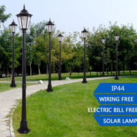 Wholesale 1 M Big Solar Outdoor Bright LED Porch Landscape Pillar Garden Home Lawn Yard Street Lamp Aluminum Glass White Light IP44