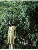 Wholesale Cotton and linen material robe on ethnic Chinese wind restoring ancient ways female hanfu loose linen clothes coat long sleeved dress