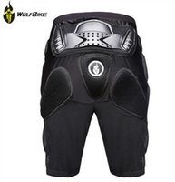Wholesale WOLFBIKE Hockey Motorcycle Armor Shorts Off road Motorcross Downhill Mountain Bike Skating Extreme Sport Protective Gear Hip Pad new arrive