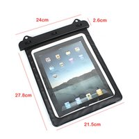 Al por mayor-transparente a prueba de agua bolsa de tintorería filtro de la manga del caso del PVC Negro para iPad Tablet 2 Mini Fit con Samsung GALAXY Tab 3 8.0 Nota N8000