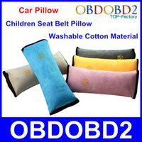 Wholesale Five Color Optional Car Pillow Protect Neck Shoulder Safety Seat Belt Pillow Children Pad Protection Washable Cotton Material