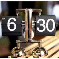 antique balance - Hot sale Creative Personalized alarm feet balance design Automatic page display time clock colors