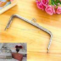 Wholesale C18 Newest Sewing Purse Handbag Coins Bags Silver Handle Metal Kiss Clasp Frame cm New