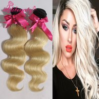 best holiday deals - Ombre Hair Extensions Two Tone Blonde B Best A Brazilian Straight Virgin Remy Human Hair Weave Bundles Holiday sale Deals