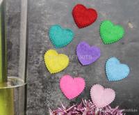 Wholesale Set of mm Felt Heart Shape Cotton Fabric multiple Colors for Clothes Applique by0110b