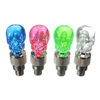 Wholesale Interesting Skull Flashing LED Valve Cap Light Wheel Tyre Lamp For Car Motorcycle Bike order lt no track