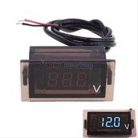 Wholesale V1NF Motorcycle DC V Voltage Meter Voltmeter Panel LED Digital Display Blue