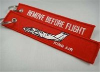 Wholesale Beechcraft King Air Remove Before Flight Attendant Keychain Cabin Crew x cm