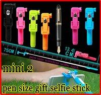 Wholesale Extendable Mini Monopod Tripod pen pocket Handheld Foldable Portable bluetooth wireless selfie stick Groove supreme RK mini2 z07 s