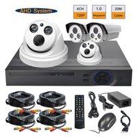 Wholesale 720P MP AHD IR CUT Array IR Camera CH H CCTV DVR Security System