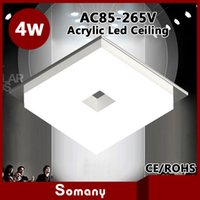 acrylic display items - Novelty Items Frosted Acrylic Led Embedded Down Light Display Light W Round W Square Indoor Ceiling Lamp