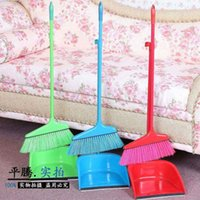 Wholesale 8001 Home Furnishing plastic broom broom and dustpan set clean combination of manufacturers selling dustpan broom