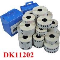 printer ribbon - 10rolls dk11202 compatible for brother DK label tape DK mm mm black on white typewriter printer Ribbon label maker
