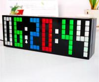 led digital wall clock - Novelty Colorful Color Custom Personalized DIY LED Digital Wall Clock Desktop Alarm Clocks For Home Decor Gift