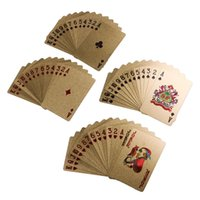 Wholesale 24K Karat Gold Foil Plated Game Poker Casino Playing Card Deck