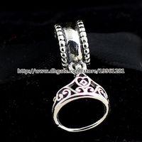 belle charm bracelet - 100 Sterling Silver Belle Tiara Dangle Charm Bead Fit European Pandora Style Jewelry Bracelets Necklace