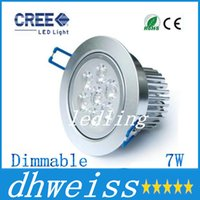 ac ed - factory ed Downlights Dimmable AC V7W high quality high power Ceiling Recessed Lights led downlight down light CE ROHS