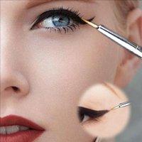 Wholesale Waterproof Hot Beauty Eye thin Liner Eyeliner Shadow Gel Makeup Cosmetic Brush Black MU WT