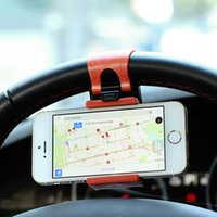 Wholesale Universal Car Steering Wheel Bike Clip Mount Holder For iPhone iPod For Sansung MP4 GPS Mobile Phone Holders