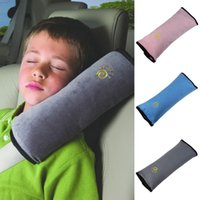 Wholesale Useful Auto Safety Seat Belt for Children Kids Baby Protection Soft Shoulder Cover Cushion Head Neck Rest Pillow Car Seat Cover