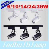 Wholesale Black White Shell W W W W W Led Track Lights Warm Natural Cool White Led Ceiling Spot Lights AC V
