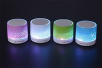 beautiful usb - Bluetooth Speaker Mini Portable With Beautiful LED Light Support TF Card for Smart Phone DHL