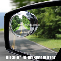 Wholesale 2pcs HD Auto rear view mirror wide angle round convex mirror Sides car mirror cm blind spot mirror