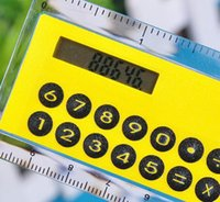 dual calculator - Pieces Solar Magnifier Calculator Fashion Multifunction cm ultra thin ruler Calculator Office Supplies Products As a Gift