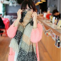 Wholesale New Autumn Winter Thicken Cashmere Infinite Tassel Scarf Print Colorful Plaid Foulard Women Scarves Shawl H0208