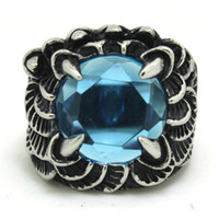 Huge Fashion Rings For Cheap Cheap Free Shipping Blue Huge