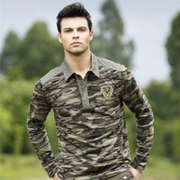 Cheap Free Army long shirt Mens Outdoor Long Sleeve Casual Camouflage Shirt Men Clothing Battle Fatigues Matching long sleeve t shirt NC-13101