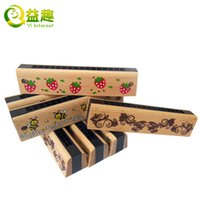 Wholesale Child wooden music education toys hole harmonica wooden baby nursery color cartoon musical instruments