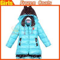 Wholesale Frozen Down Coat Elsa Anna Down Winter Coat Kids Clothes Jacket Coat Frozen Outwear Colors hot sell