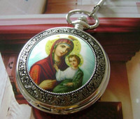 mary statue - Virgin Mary statues vintage mechanical pocket watch