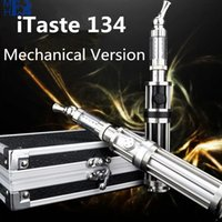 Cheap Electronic Cigarettes Itaste 134 Mechanical Version CR134 Kit With IC30S Atomizer Ecig Stainless Steel Mechanical Mod X8274