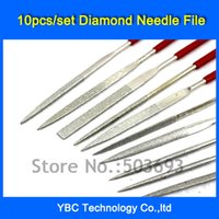 Cheap Free Shipping 10pcs set 3*140mm Needle Files Jewelers Diamond Wood Carving Craft Tool Metal Glass Stone