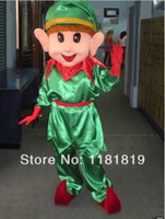 Wholesale christmas elf Mascot costume custom fancy costume anime cosplay kits mascotte theme fancy dress carnival costume